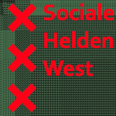 "A logo of ""Sociale Helden West""."